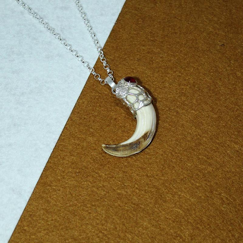 Colgate amoladera de jabalí en plata 925 diseño quela joyas