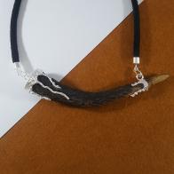 Collar cuerno de venado con plata 925