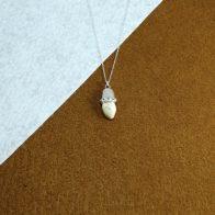 Colgante perla de venado en plata 925 exclusivo Quela joyas